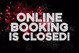 TIME BOOKING CLOSED
